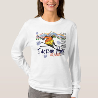 Jackson Hole Wyoming ski elevation hoodie