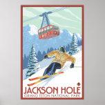 Jackson Hole, Wyoming - Skier and Tram