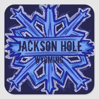 Jackson Hole Wyoming snowflake stickers