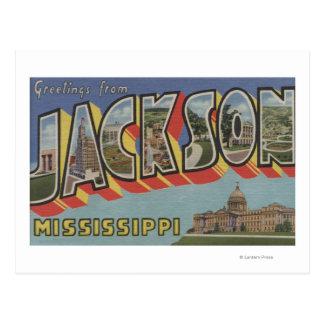 Jackson Mississippi - Large Letter Scenes Postcard