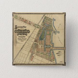 Jackson Park & Midway Plaisance, Chicago, Illinois 15 Cm Square Badge