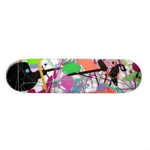 Jackson Pollocks Artwork Skateboard. Skateboard