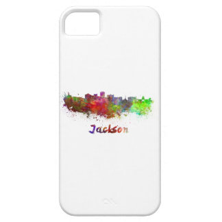 Jackson skyline in watercolor barely there iPhone 5 case