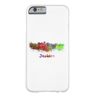 Jackson skyline in watercolor barely there iPhone 6 case