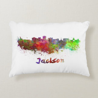 Jackson skyline in watercolor decorative cushion