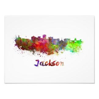 Jackson skyline in watercolor photo print
