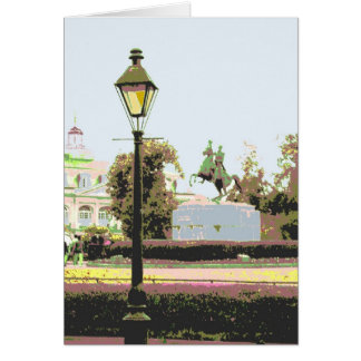 Jackson Square in Pastels Card