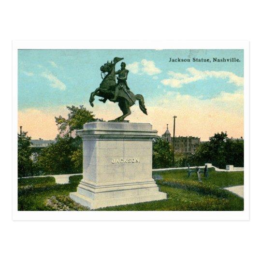Jackson Statue, Nashville 1918 Vintage Postcard
