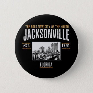 Jacksonville 6 Cm Round Badge