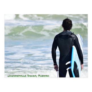 Jacksonville Beach Surfer Postcard