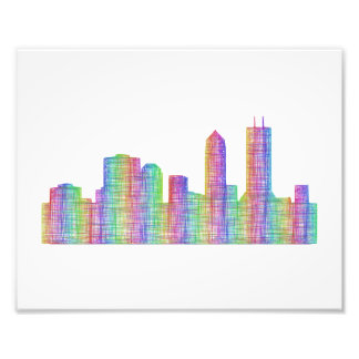 Jacksonville city skyline photo print