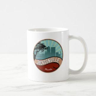 Jacksonville City Skyline Retro Vintage Mug