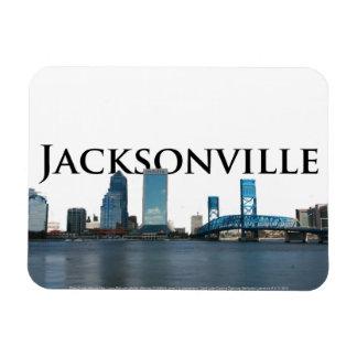 Jacksonville FL Skyline w/ Jacksonville in the Sky Magnet