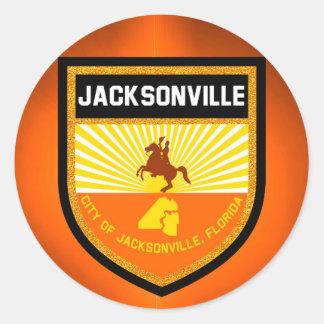 Jacksonville  Flag Classic Round Sticker