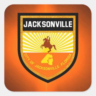Jacksonville  Flag Square Sticker