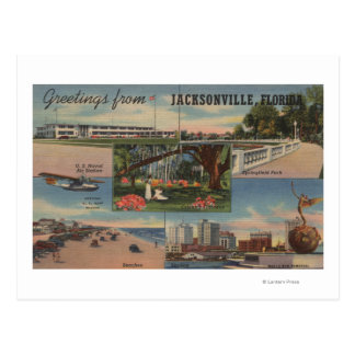 Jacksonville, Florida - Greetings From Postcard