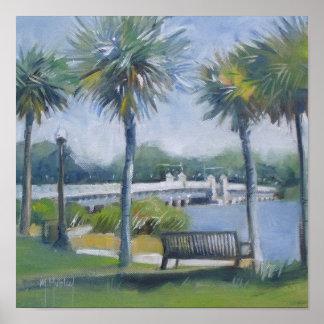 Jacksonville Florida Ortega Bridge Poster