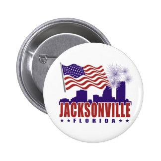 Jacksonville Florida Patriotic Button