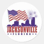 Jacksonville Florida Patriotic Sticker