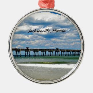 Jacksonville, Florida Pier Metal Ornament