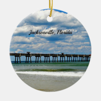 Jacksonville, Florida Pier photo Ceramic Ornament