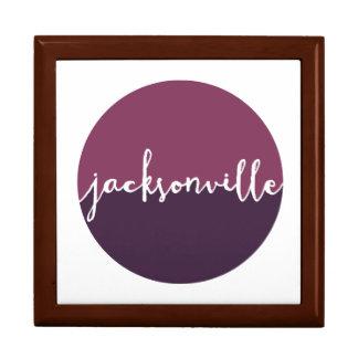 Jacksonville, Florida | Purple Ombre Circle Large Square Gift Box