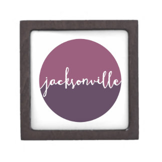 Jacksonville, Florida | Purple Ombre Circle Premium Jewelry Boxes