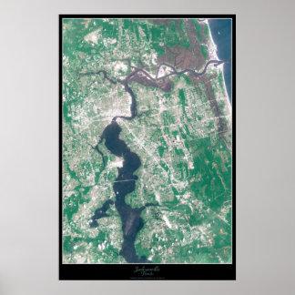 Jacksonville, Florida Satellite Poster
