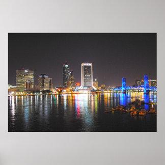 Jacksonville Florida Skyline Poster