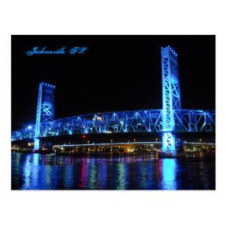 Jacksonville Main Street Bridge Postcard