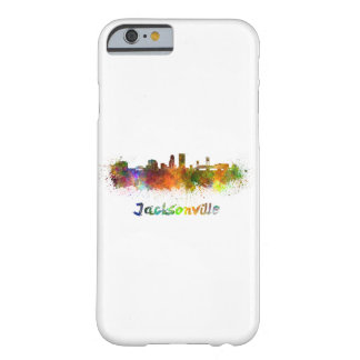 Jacksonville skyline in watercolor barely there iPhone 6 case