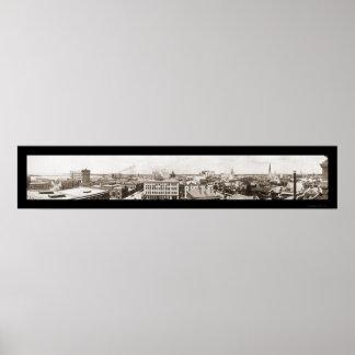 Jacksonville Skyline Photo 1910 Poster