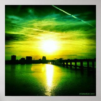 Jacksonville Skylines Poster