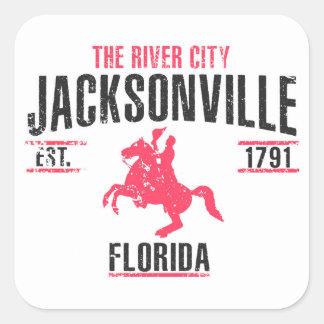 Jacksonville Square Sticker