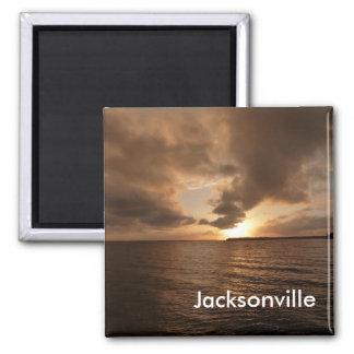Jacksonville St Johns River Sunset Photo Magnet