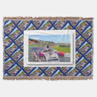 JACKYs 936 - Digitally Artwork Jean Louis Glineur Throw Blanket