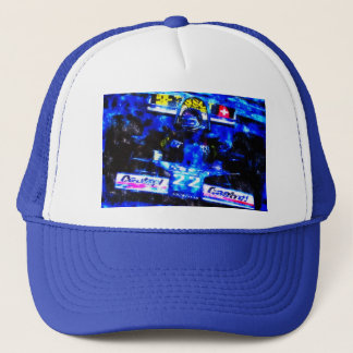JACKY's MONOPOSTO - digitally Artwork by JLG Trucker Hat