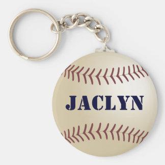 Jaclyn Baseball Keychain