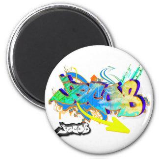 Jacob 6 Cm Round Magnet