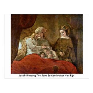 Jacob Blessing The Sons By Rembrandt Van Rijn Postcard