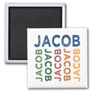 Jacob Cute Colorful Square Magnet