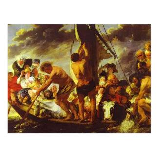 Jacob Jordaens- Ferry Boat to Antwerp Postcard