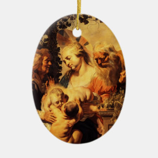 Jacob Jordaens-Holy Family ,Elizabeth & Child John Ornament