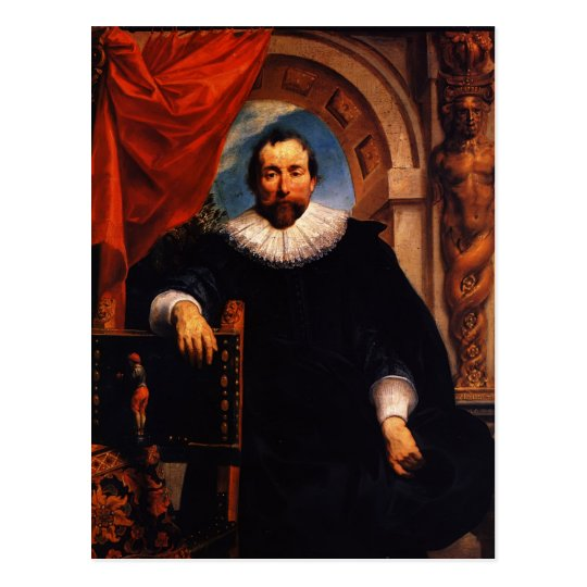 Jacob Jordaens- Portrait of the Rogier Witer Postcard