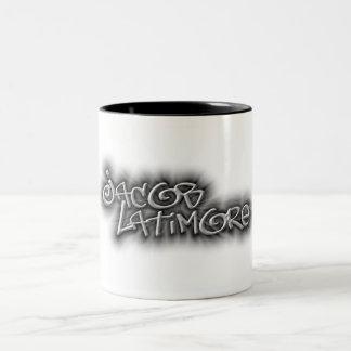 Jacob Latimore Two Tone Signature Logo Coffee Mug