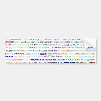 Jacob Text Design II Bumper Sticker