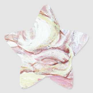 Jacob wrestling with the angel(abstract  painting) star stickers