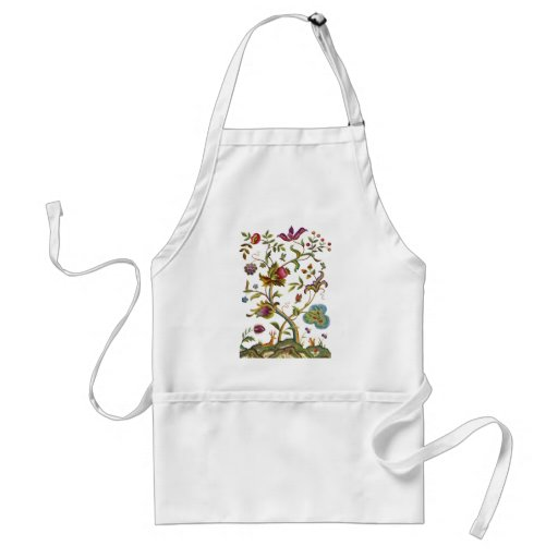 Jacobean Crewel Embroidery Tree of Life Aprons