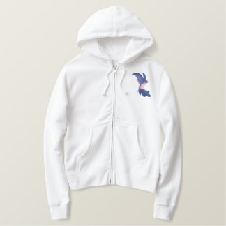 Jacobean Hummingbird Embroidered Hoodie