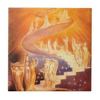 Jacob's Dream By William Blake Tile